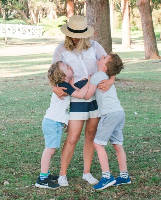 Jasper with her boys, Jasper and Otis.