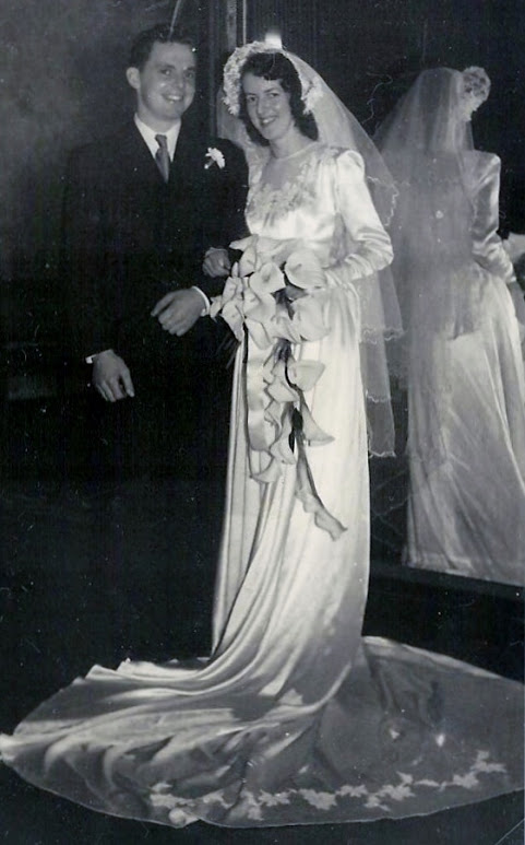 Bob and Irene on their wedding day, in 1950.