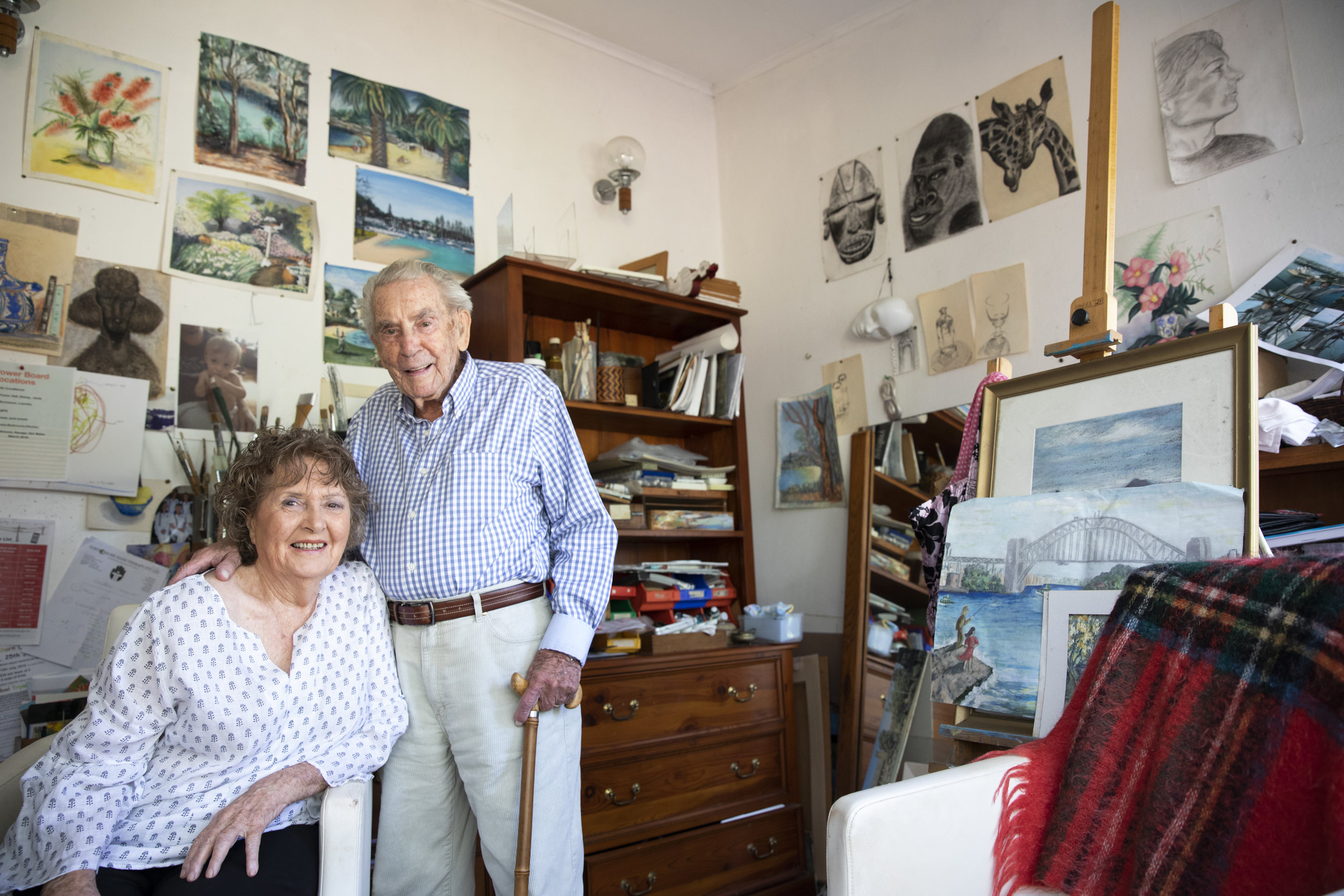 Geraldine and George Lockyer. Now in their 90's and married for more than 70 years.