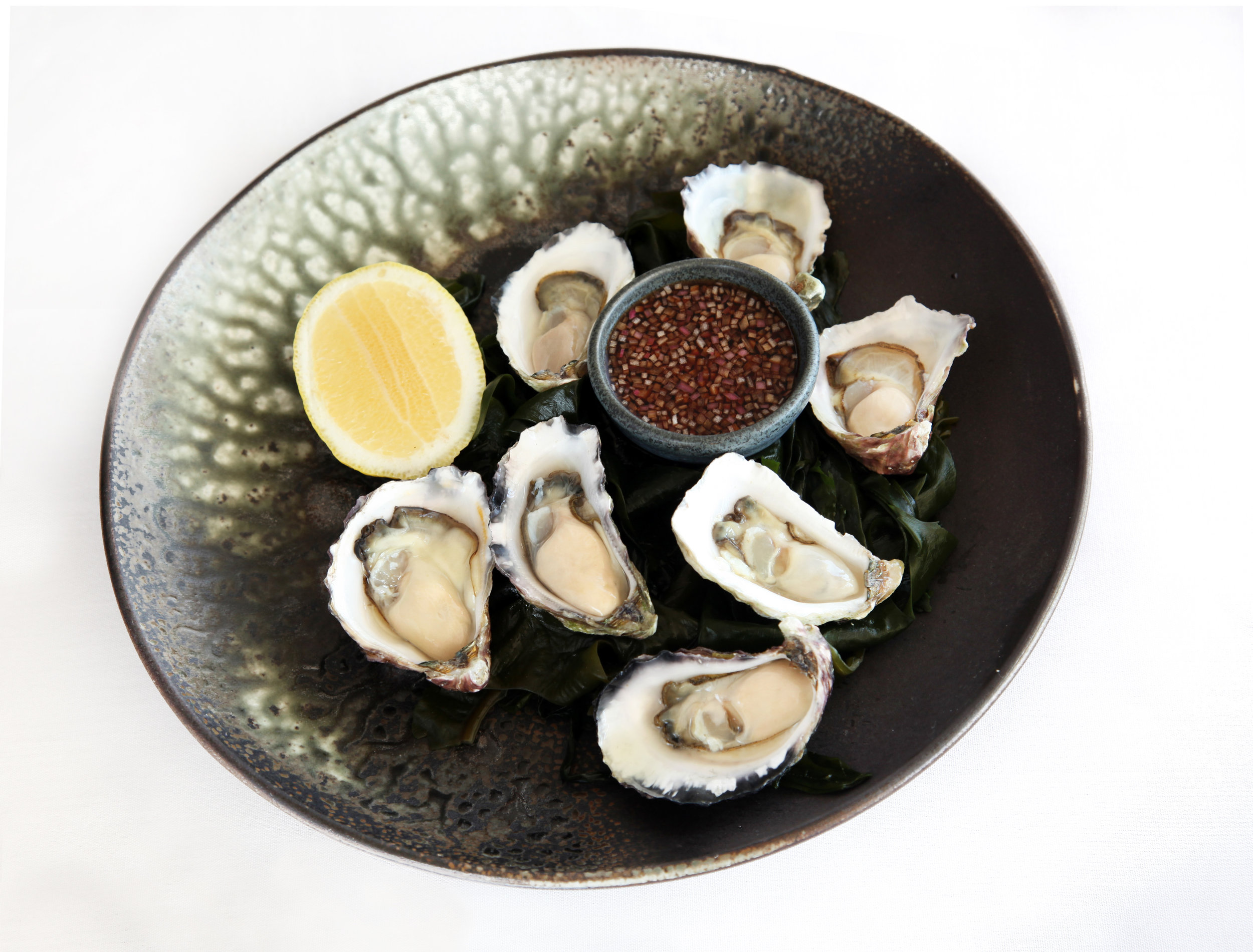 Oysters with mignonette dressing