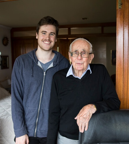 THRILLED: Our reporter Lachlan meets veteran journalist Gavin Souter.