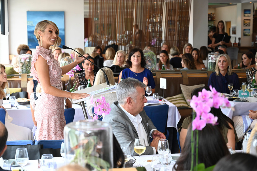Channel 9 Presenter and Bathers' Gold Lunch Co-Chair Belinda Russell.