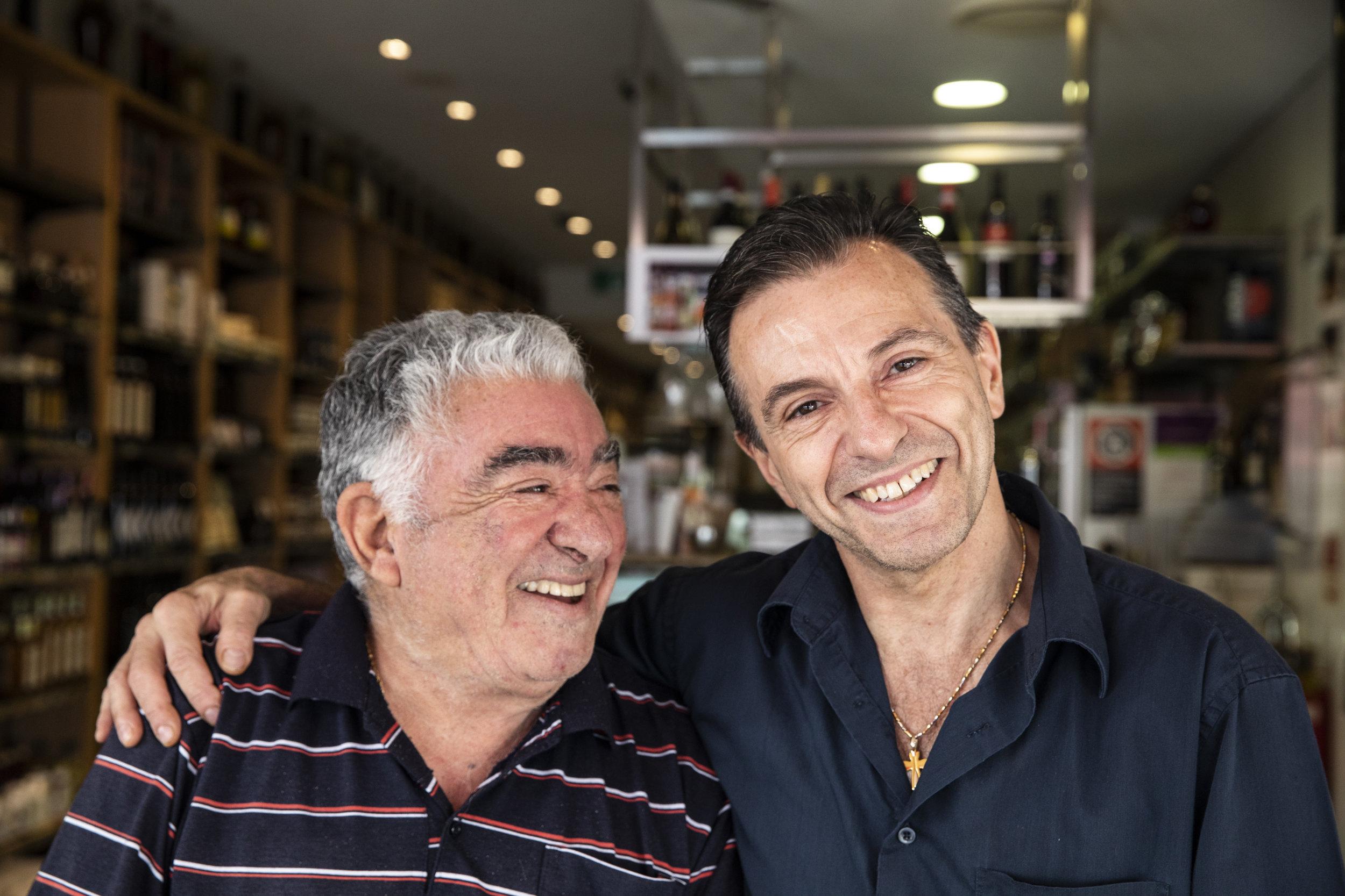 Mosman icons Matteo and Joseph Arena .   IMAGE: Graham Monro