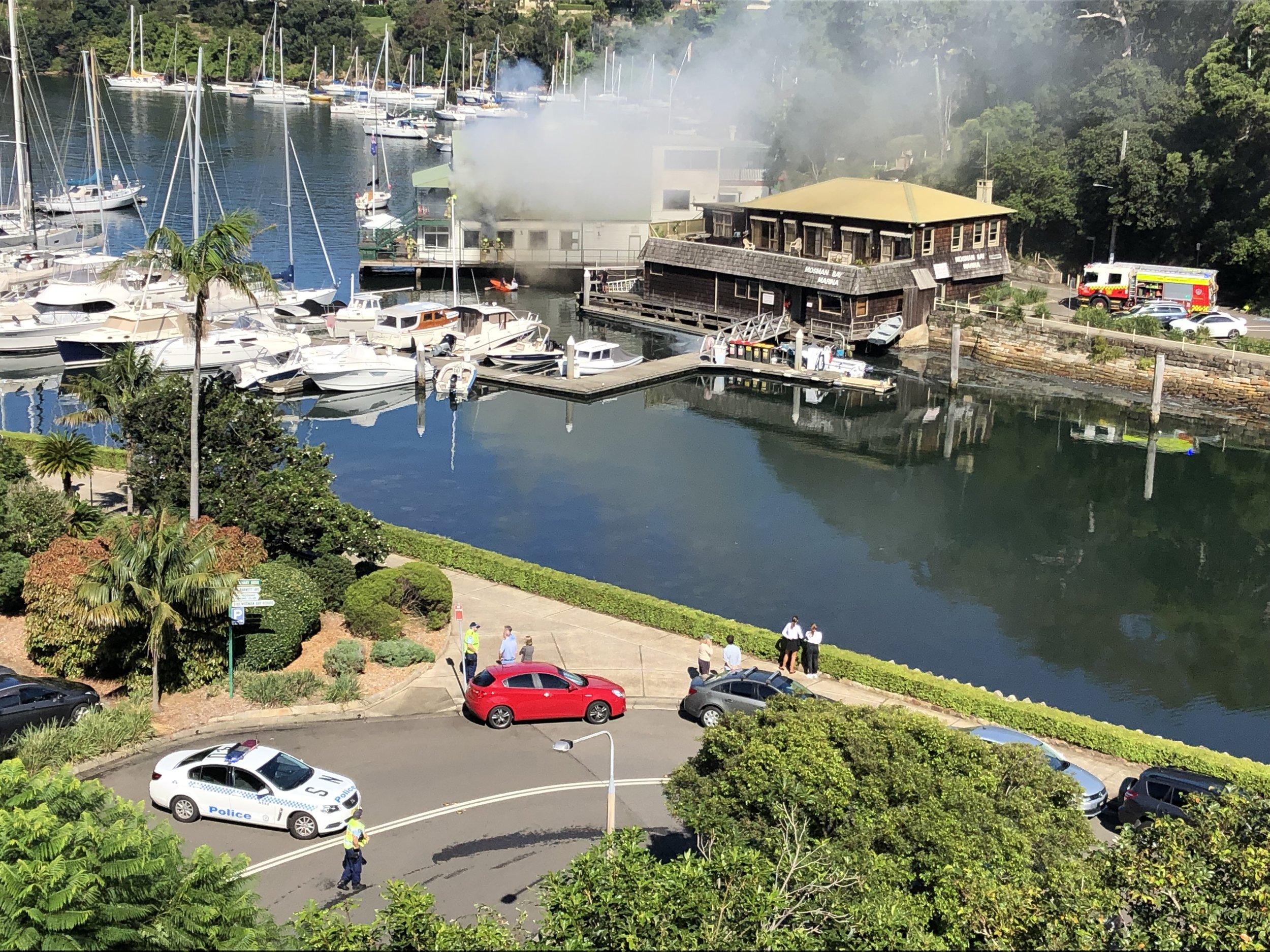 Mosman Rowers Fire