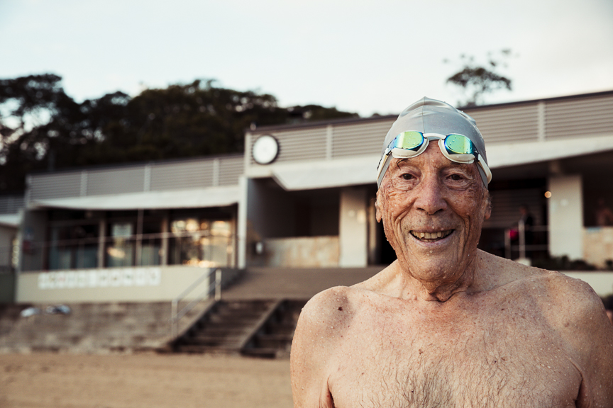 Bill Walker old swimmer Mosman