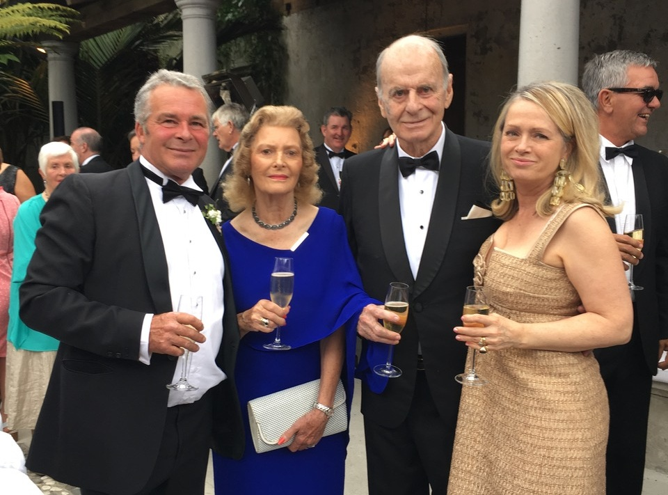 Winx owner and Mosman resident Richard Treweeke with son Rick (L), friend Dorothy Nelson and daughter Elizabeth (R)
