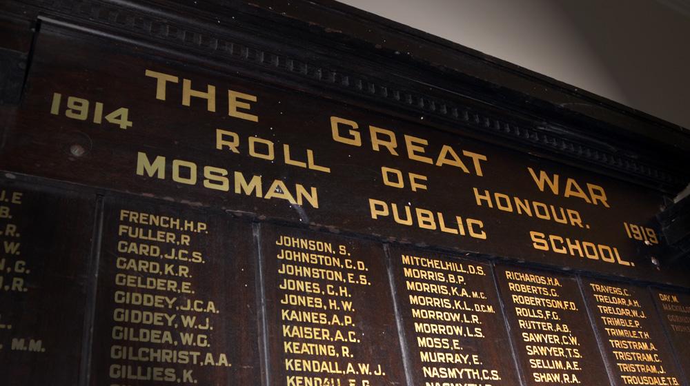 Mosman War dead