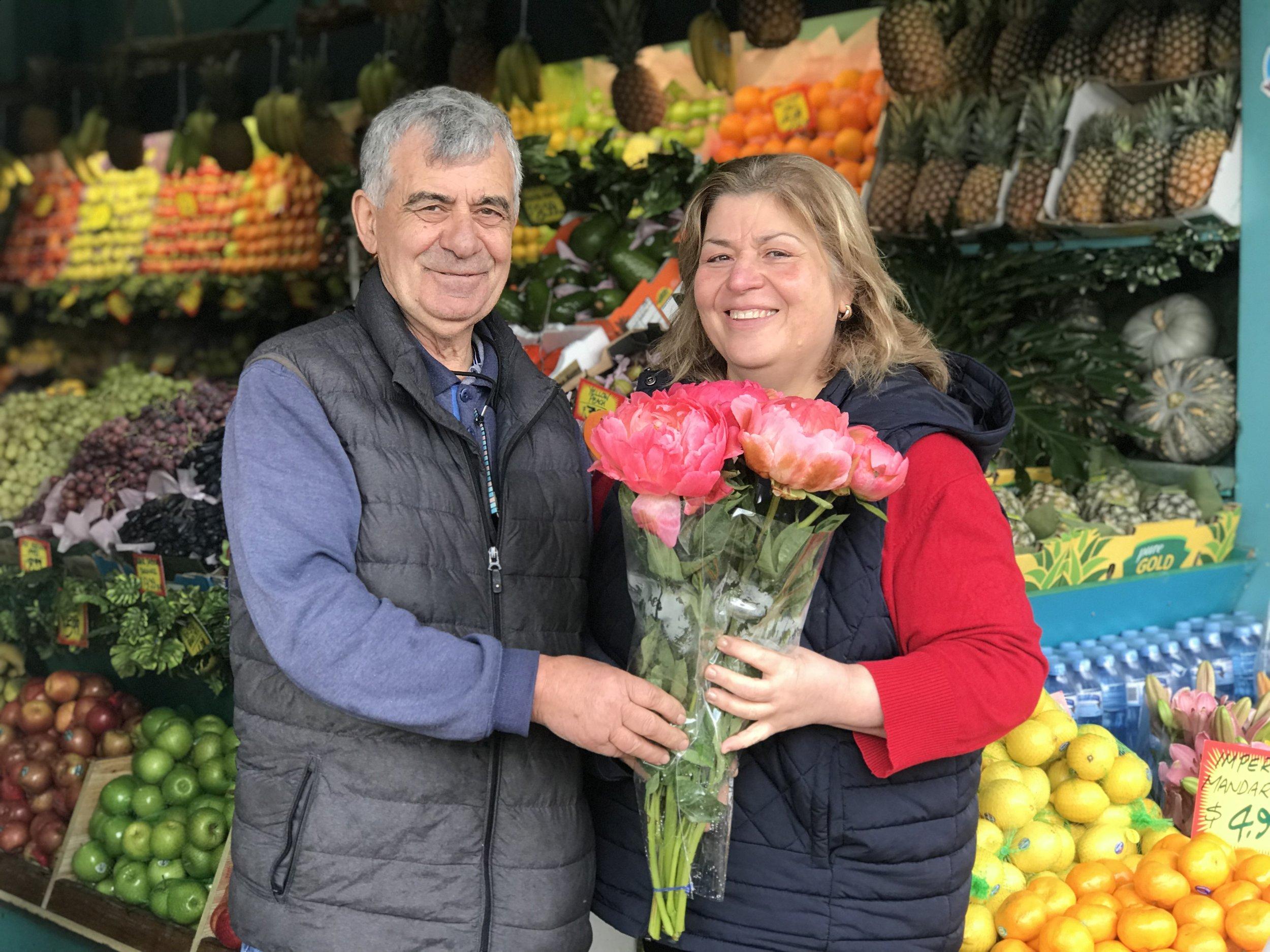 Jimmy and Toula Koustoubaris - Mosman fruit shop