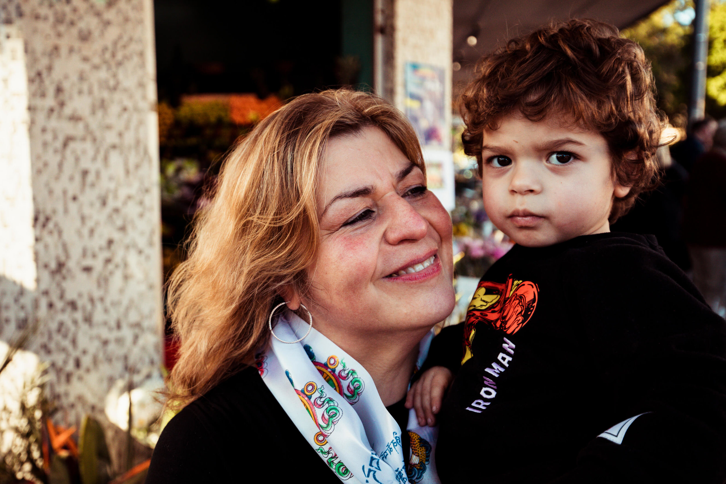 EMOTIONAL: Toula Koustoubardis and grandson Dimitri.