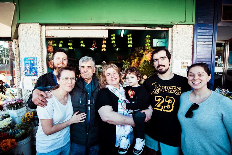 The Koustoubardis family celebrate Jimmy and Toula's retirement.