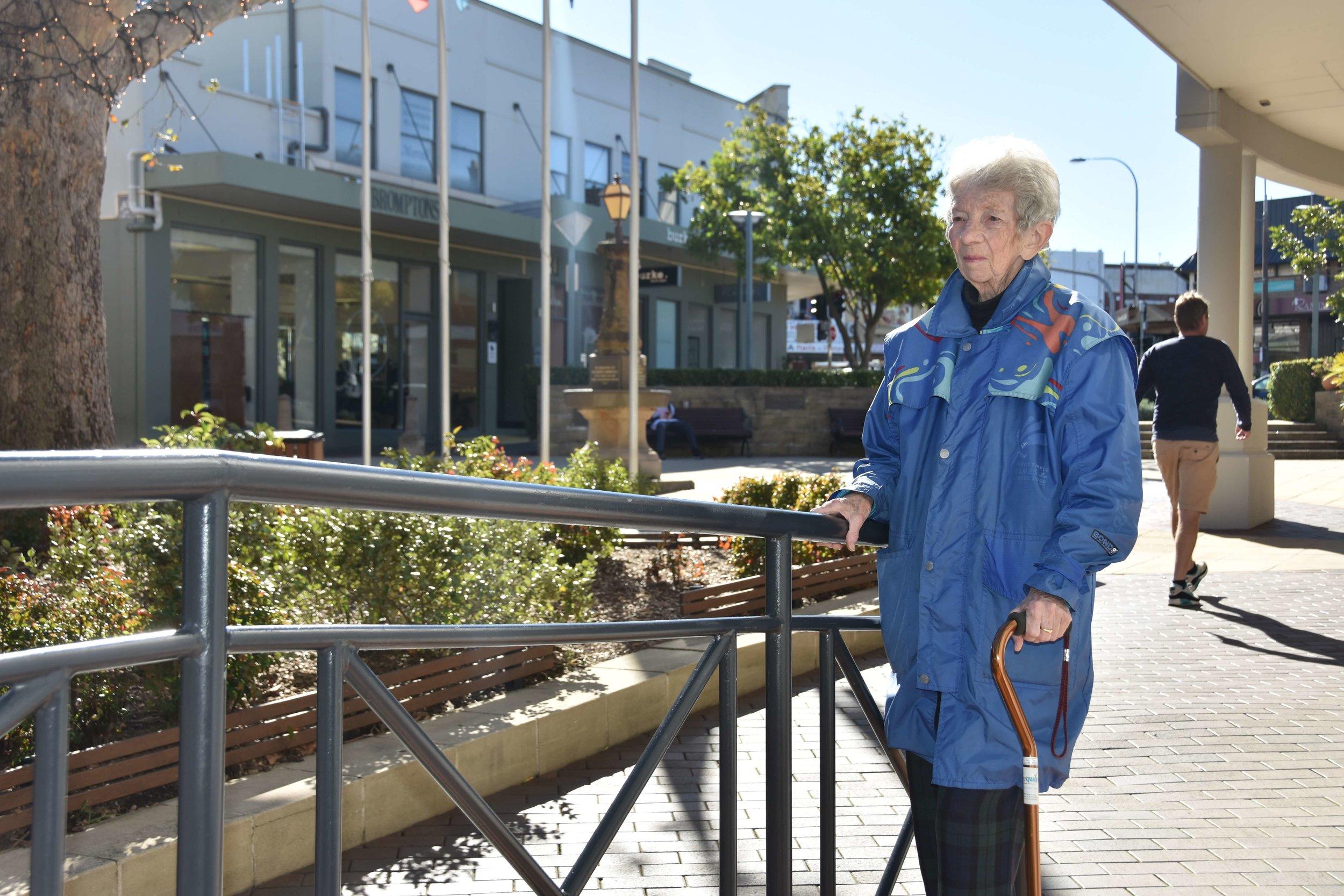 Local resident Margaret Evans.