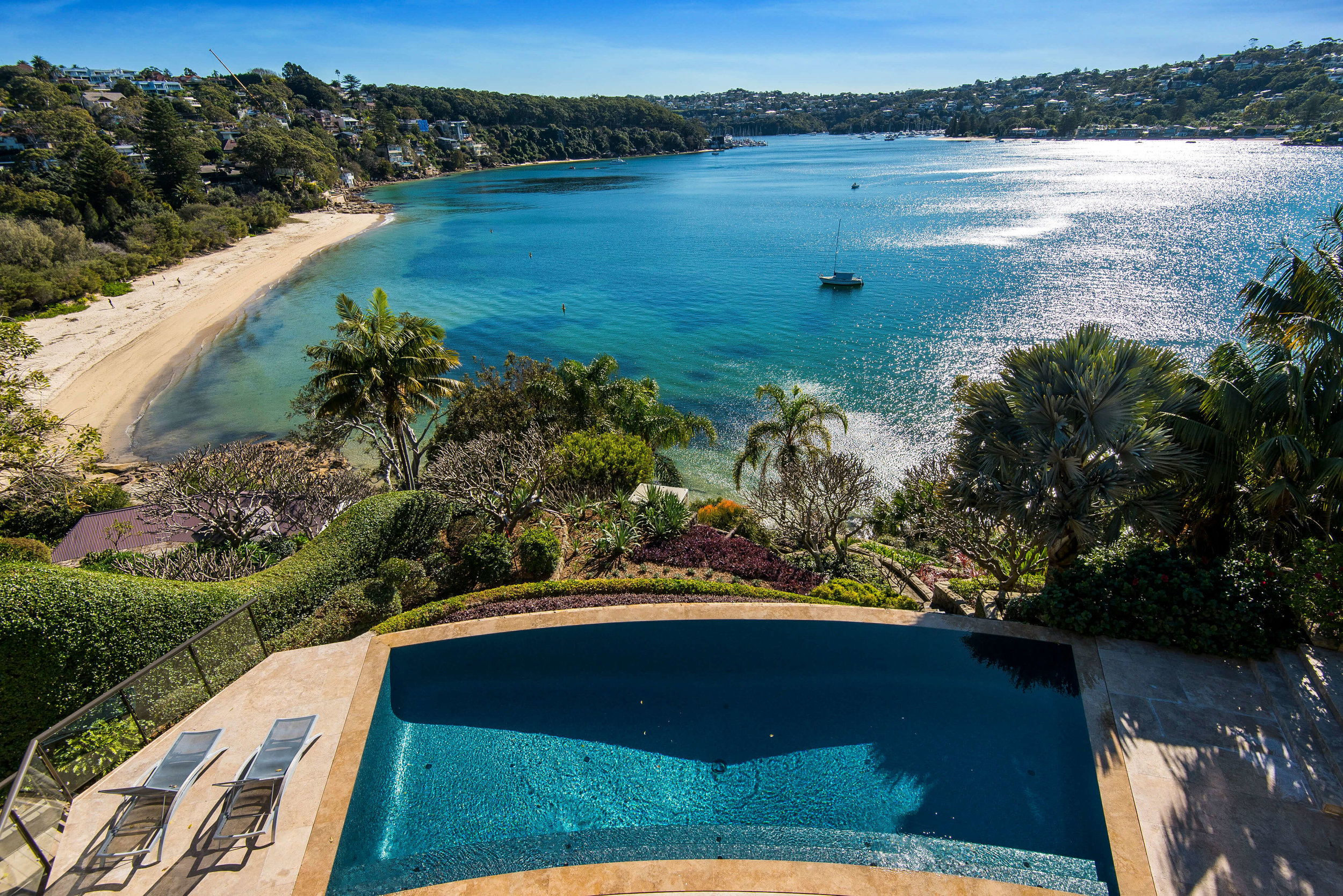 Danieli is located next door to Ken Done's magnificent Mosman estate.
