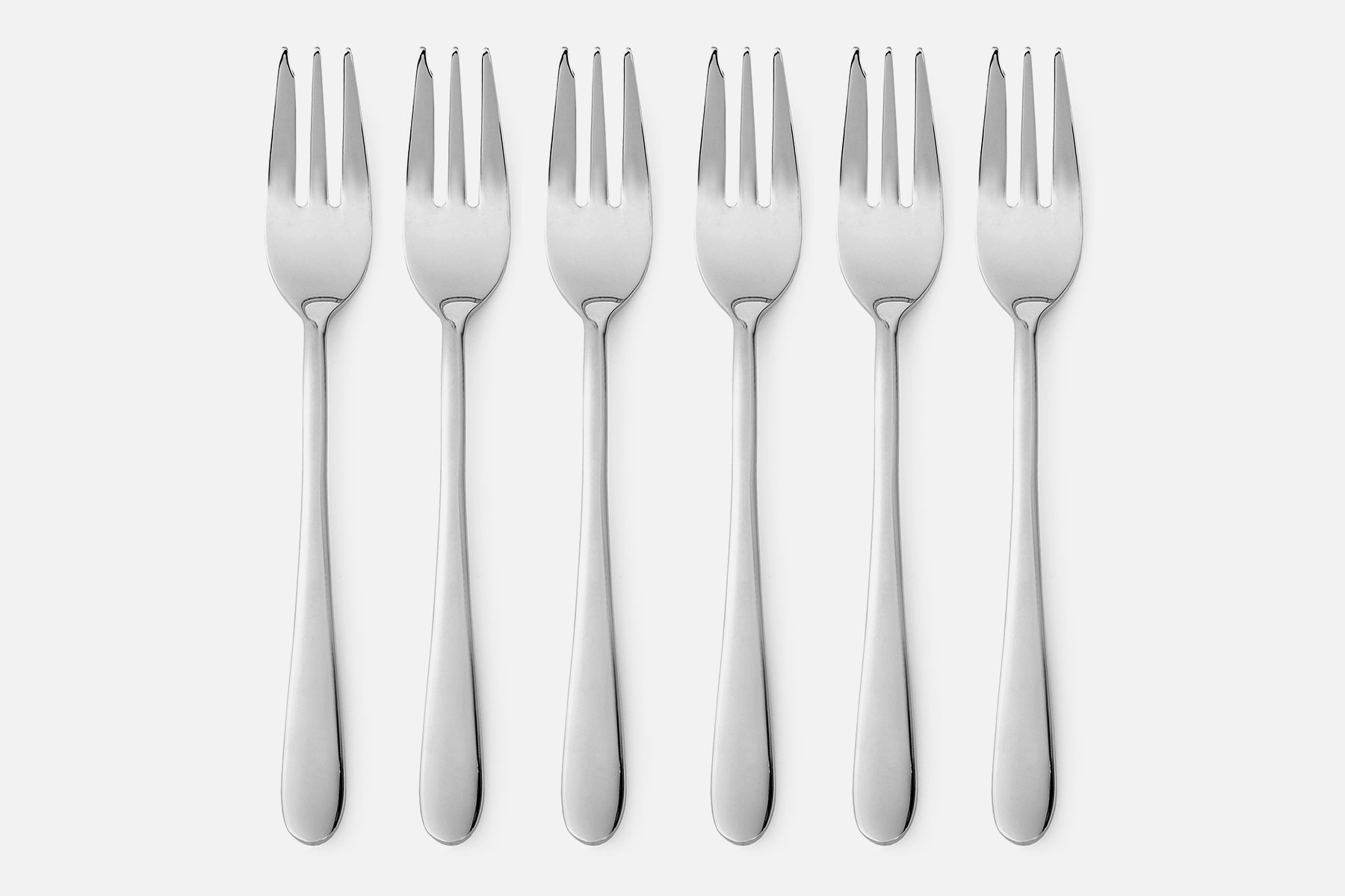 Cake fork, shiny - 6 pcsStainless steelDesign by eb design teamArt. no.: 90125