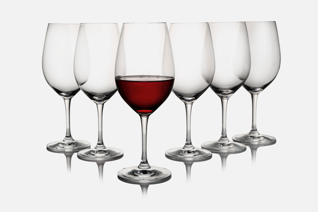 Red wine glass - 6 pcs, 53 clGlassDesign by eb design teamArt. no.: 50401