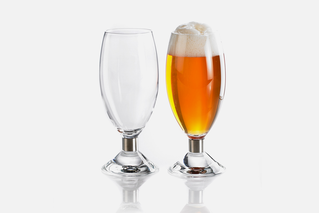 Beer glass 50cl - 2 pcs, 50 clGlass & steelDesign by Erik BaggerArt. no.: 52203