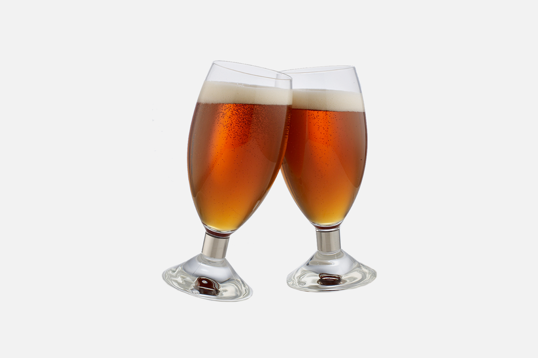 Beer glass 38cl - 2 pcs, 38 clGlass & steelDesign by Erik BaggerArt. no.: 52202