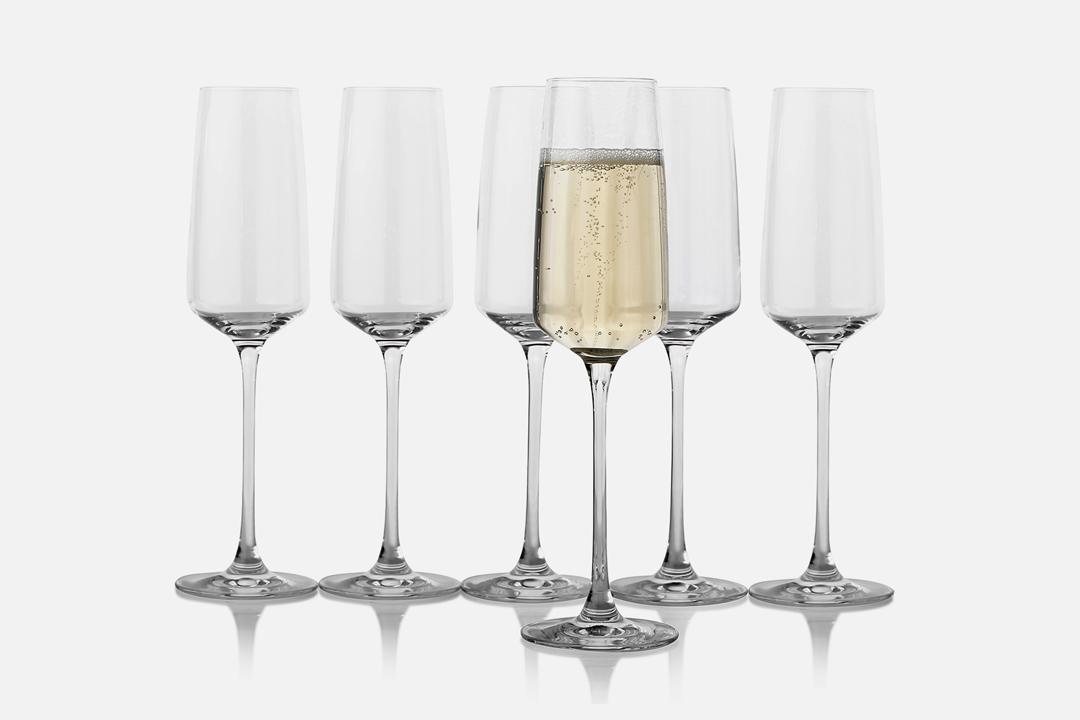 Champagne glass - 6 pcs, 25 clGlassDesign by eb design teamArt. no.: 90205