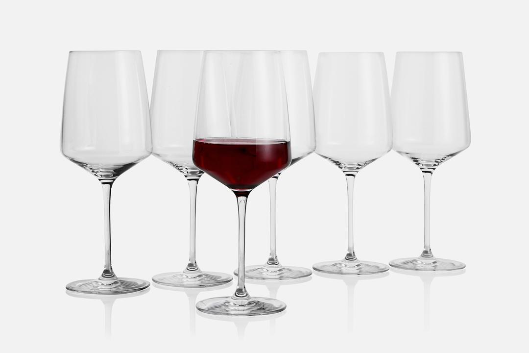 Burgundy glass - 6 pcs, 65 clGlassDesign by eb design teamArt. no.: 90203