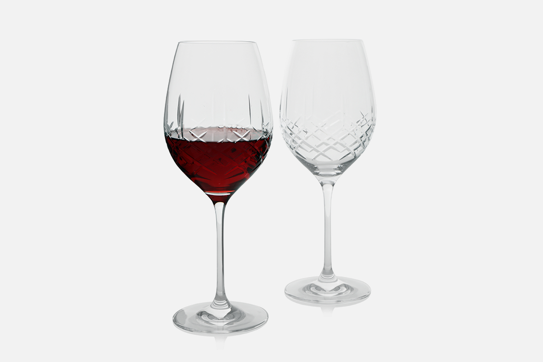Red wine glass - 2 pcs, 47 clLead-free crystal glassDesign by eb design teamArt. no.: 90234