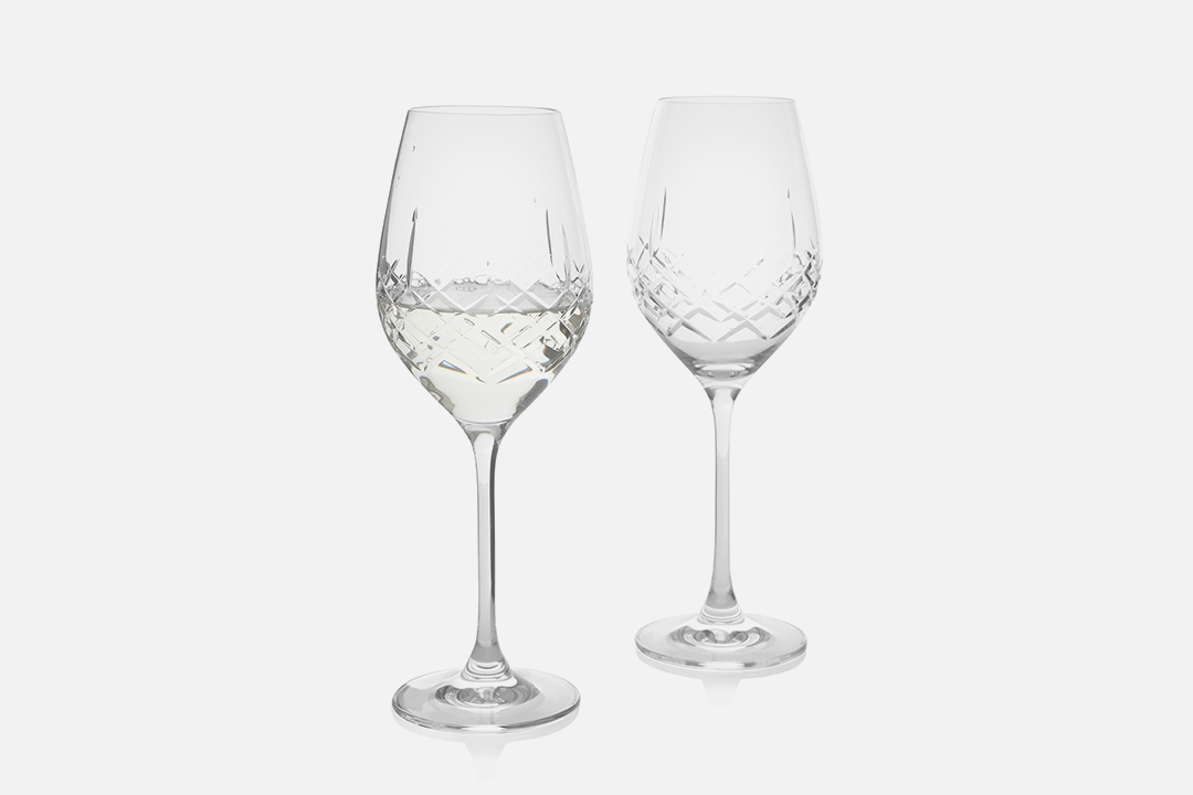White wine glass - 2 pcs, 36 clLead-free crystal glassDesign by eb design teamArt. no.: 90235
