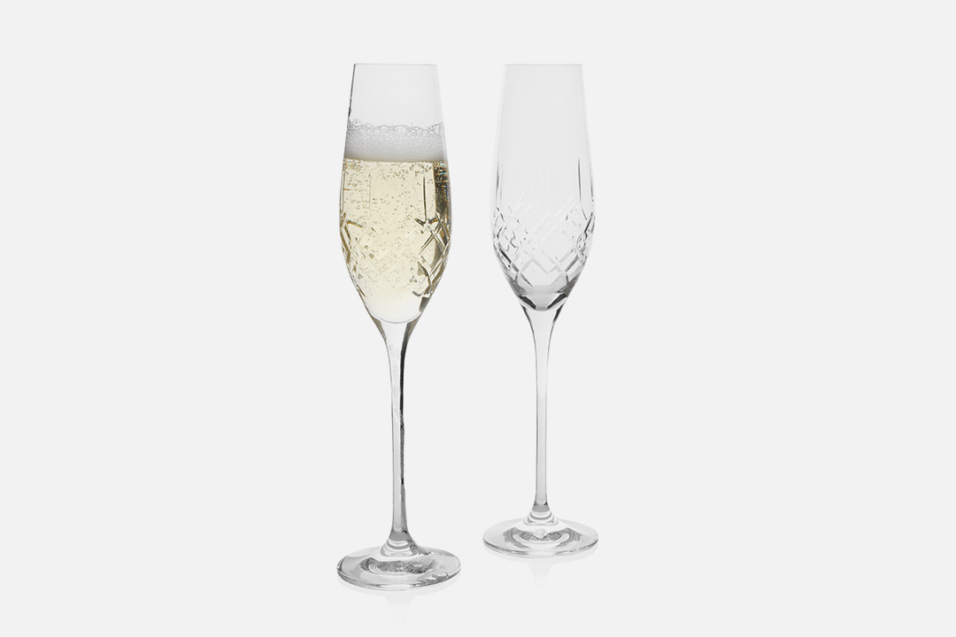 Champagne glass - 2 pcs, 21 clLead-free crystal glassDesign by eb design teamArt. no.: 90236