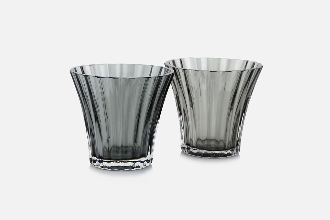 Tealight holders - 2 pcs, 8 cmGlass, greyDesign by Christel og Christer HolmgrenArt. no.: 55211