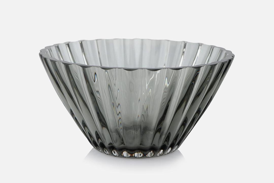Bowl 14.5cm - 1 pcs, 14,5 cmGlass, greyDesign by Christel og Christer HolmgrenArt. no.: 55208