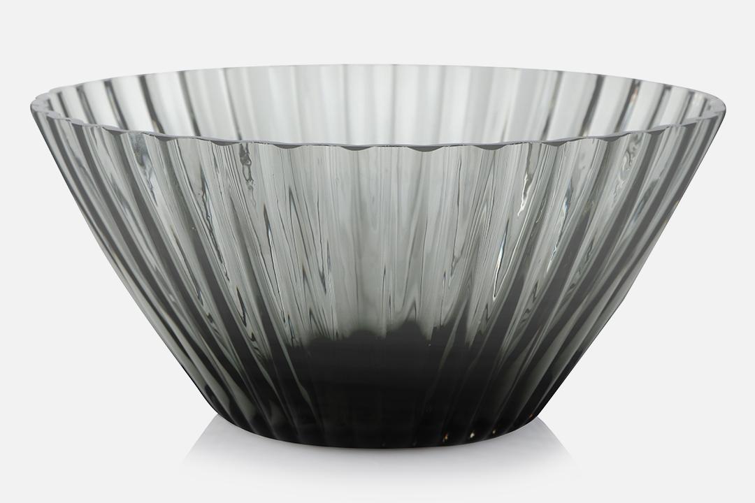 Bowl 20cm - 1 pcs, 20 cmGlass, greyDesign by Christel og Christer HolmgrenArt. no.: 55210