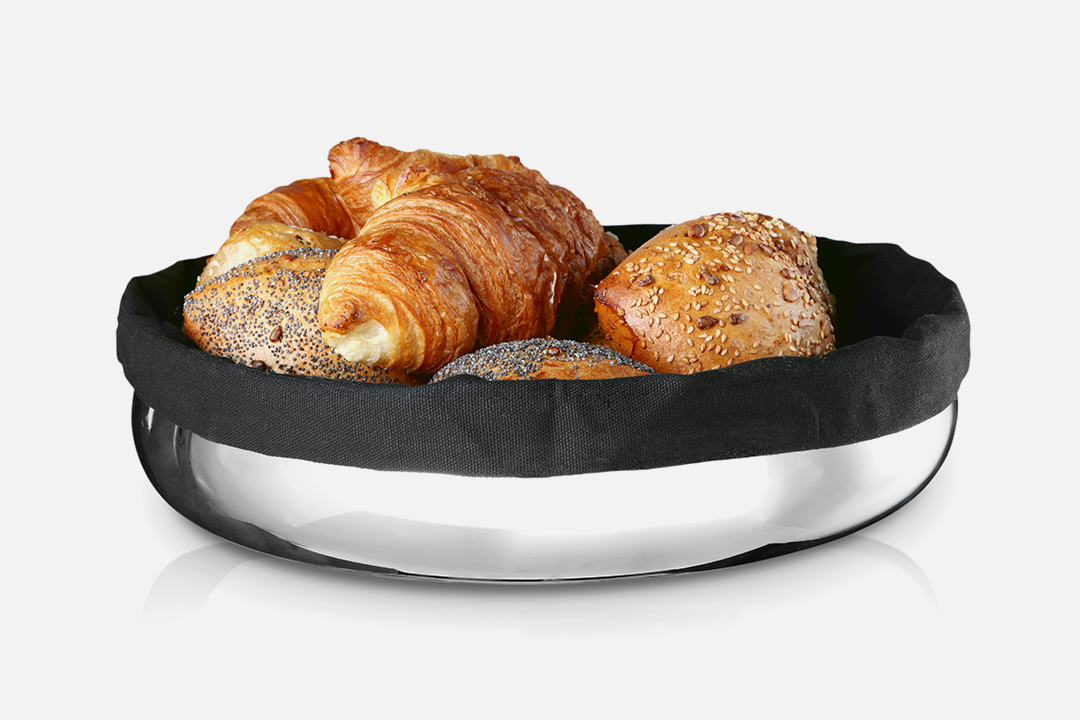 Bread basket magnum - 1 pcs, 30 cmStainless steel & textileDesign by Erik BaggerArt. no.: 80221