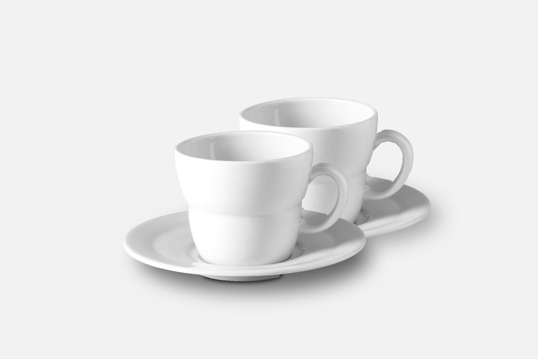 Kaffekop m. Underkop - 2 stk, 21 clPorcelænDesign by Erik BaggerArt. nr.: 60102