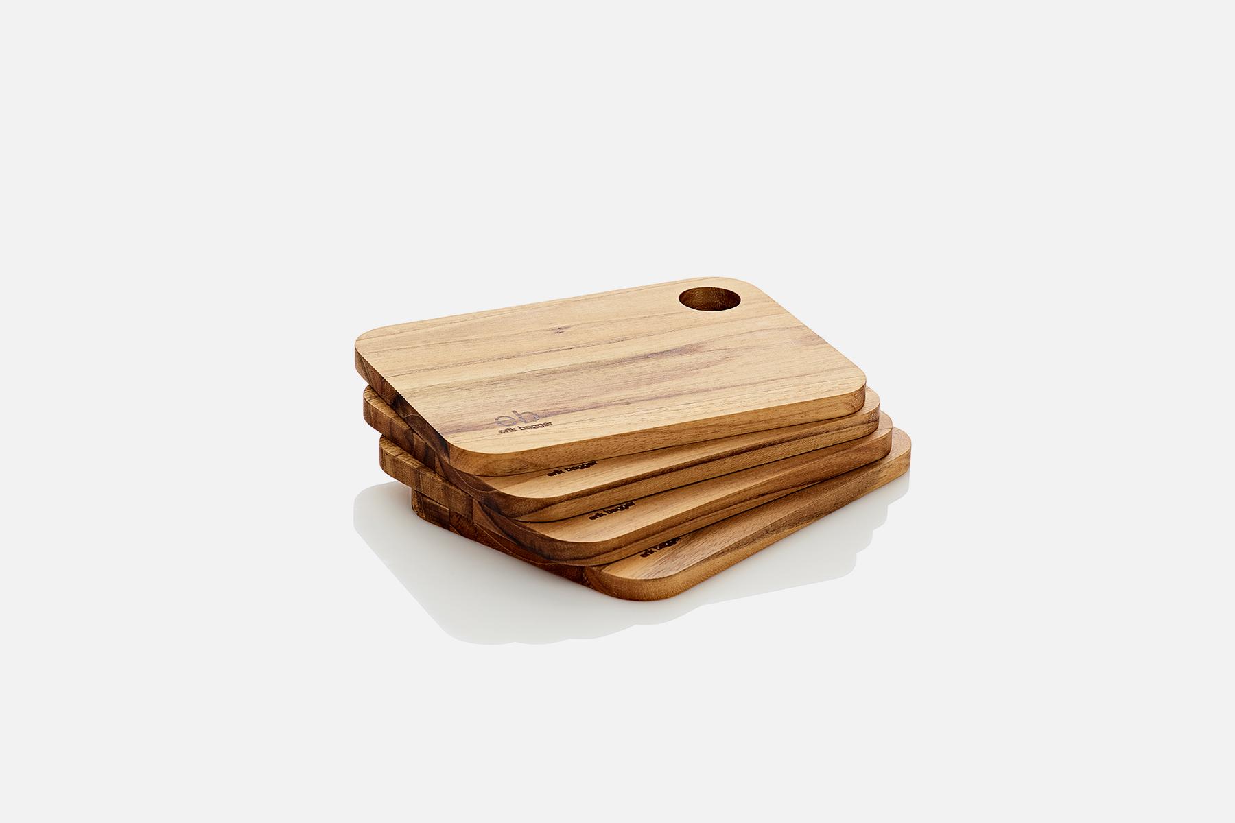 Buttering board - 4 pcs, 18x13 cmTeak, FSC certifiedDesign by eb design teamArt. no.: 58132