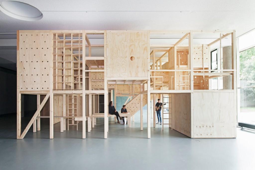As Built: A model for collective living, for a 2015 exhibit at Haus der Kultur der Welt (   DOMUS REVIEW   ) Photo by Jens Liebchen