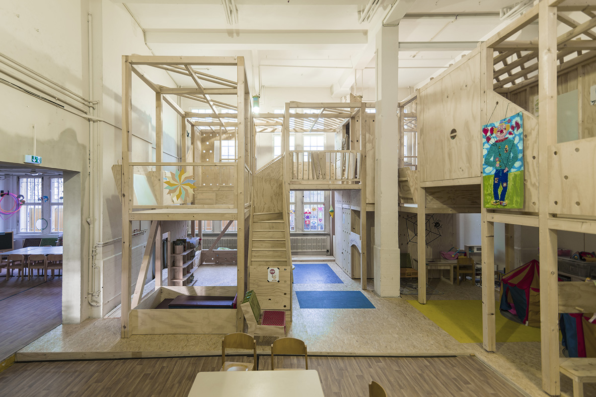 As Rebuilt: A play place at a kindergarten for refugees. Photo by Dennis Broer.