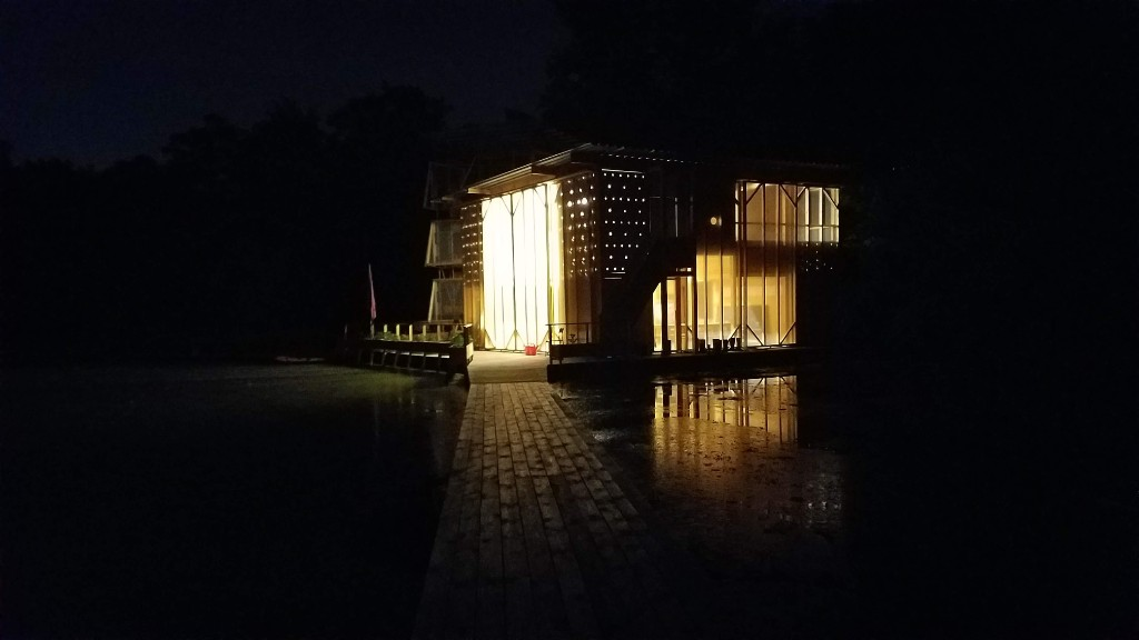 As Rebuilt, Again: As a pavilion at the Floating University. Photo by Nicolas Kemper.