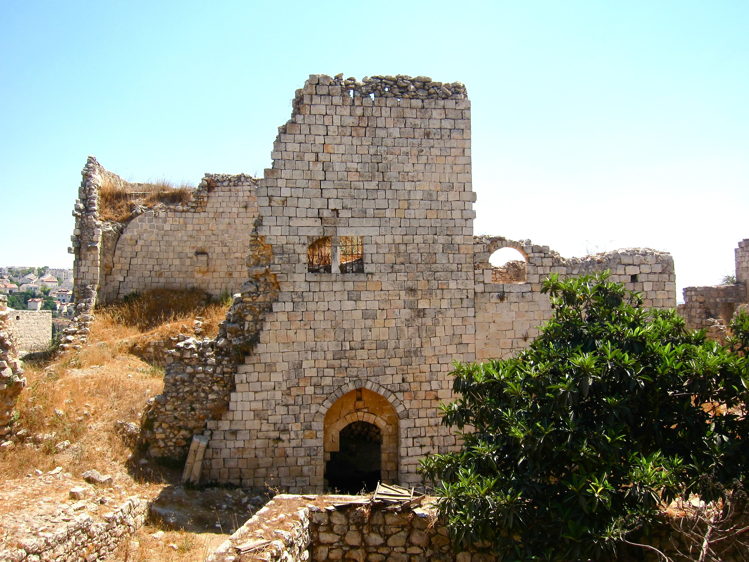 """Politically charged historical preservation: Beit Iksa, once a Palestinian Qura Karasi, or Throne Village, and now """"an open-air jail cell."""""""