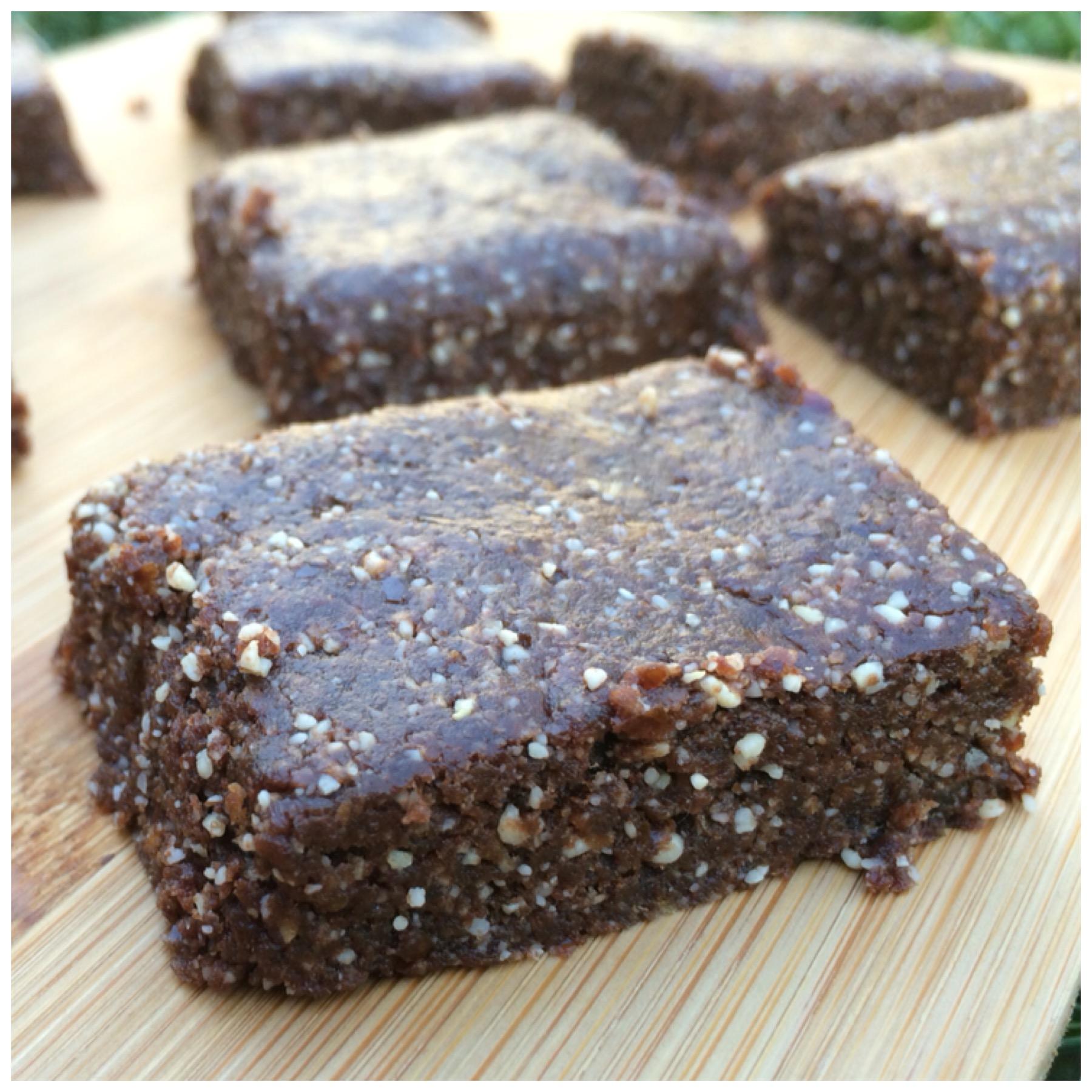 three ingredient raw chocolate brownie