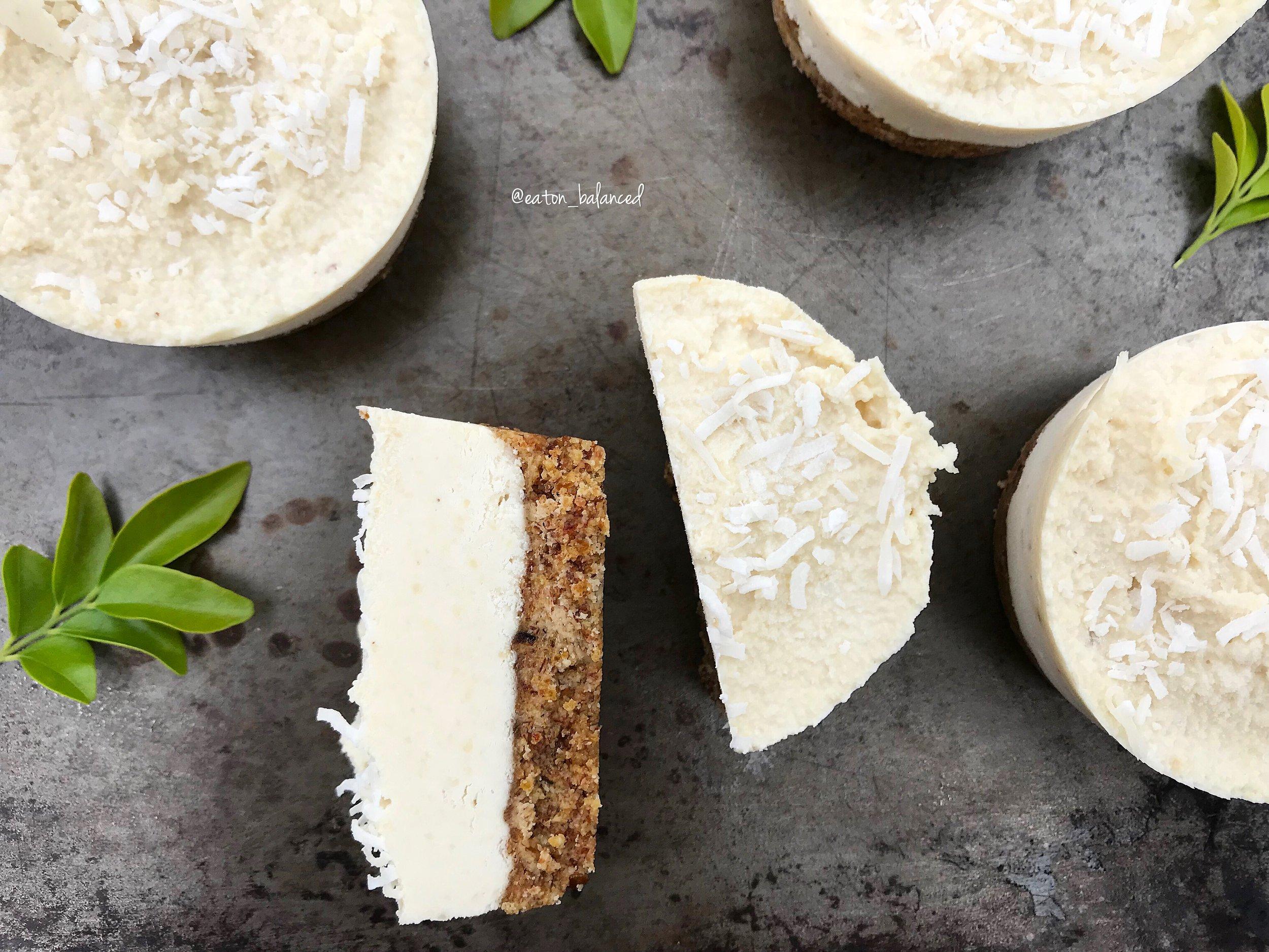Healthy Vanilla and Cashew tart