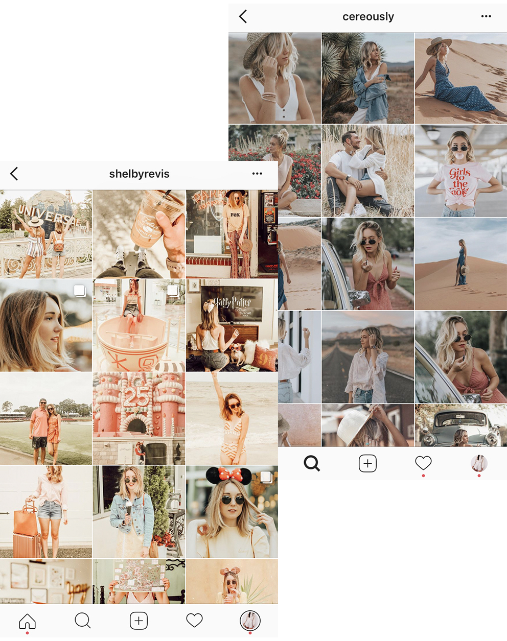 2/ Use the same filter on all your posts - Edit all your posts with the same filter to keep them cohesive. Apps like VSCO and Lightroom have options to copy and paste the same filter onto new photos so you don't need to start from scratch each time.