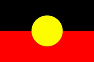 The Aboriginal flag of Australia