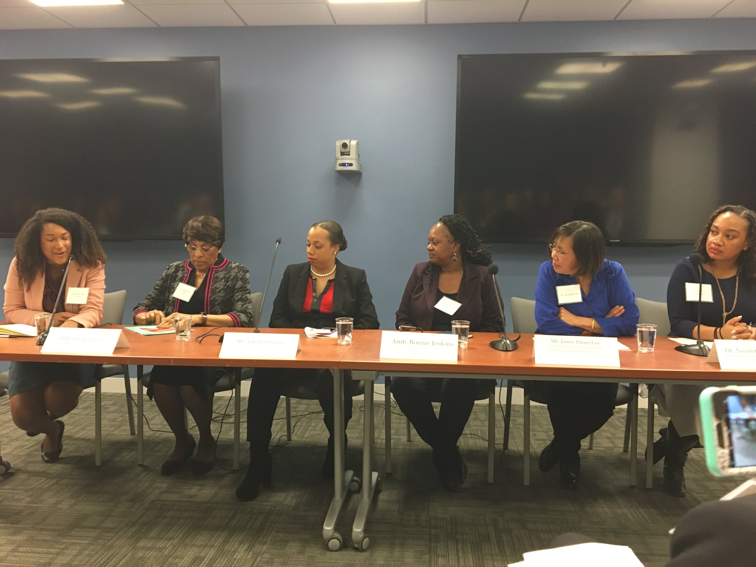 Panelists at the WCAPS and WIIS event on March 29th