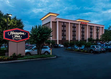 Hampton Inn Bellevue/Nashville I-40 (Smidgen over 2 miles to event)  7815 Coley Davis Rd Nashville, TN 37221 615-662-3133    Hotel details  Surrounded by casual eateries off Interstate 40, this modern hotel is 6 miles from Belle Mead Plantation, and 15 miles from Music City Walk of Fame Park and the surrounding Downtown performing arts scene.  The classic rooms include complimentary Wi-Fi and custom-designed beds, plus both full and lap desks (for working on the bed), coffeemakers, and flat-screens with HD and premium cable channels. Some add pull-out sofas or whirlpool tubs.  Freebies include a hot breakfast buffet and weekday breakfast bags to go. There's also an outdoor pool, a fitness room, meeting space and a 24/7 business center.  Free Wi-Fi Free breakfast Free parking Outdoor pool Air-conditioned Laundry service
