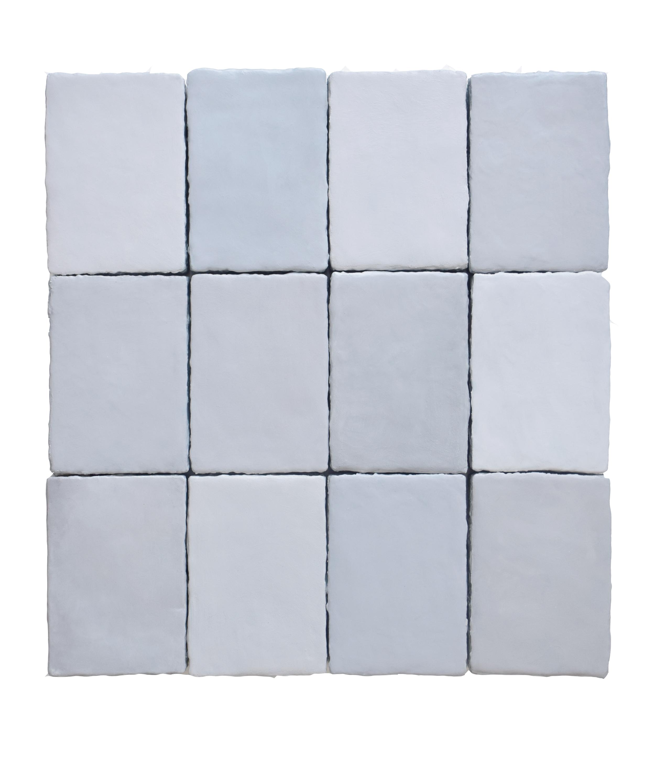 Stan Van Steendam, 'Morro', 2018, varnish, pigments and plaster on board, 39 x 42 x 3,5 cm (12 separate pieces)