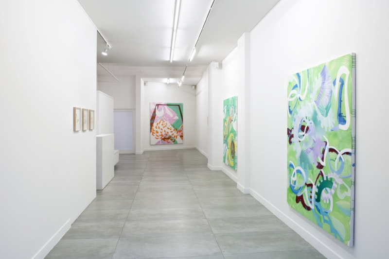 Exhibition view (1st room) Rebekka Löffler 'FROM YOU/TO ME./ FROM ME TO YOU.' at Barbé Urbain gallery