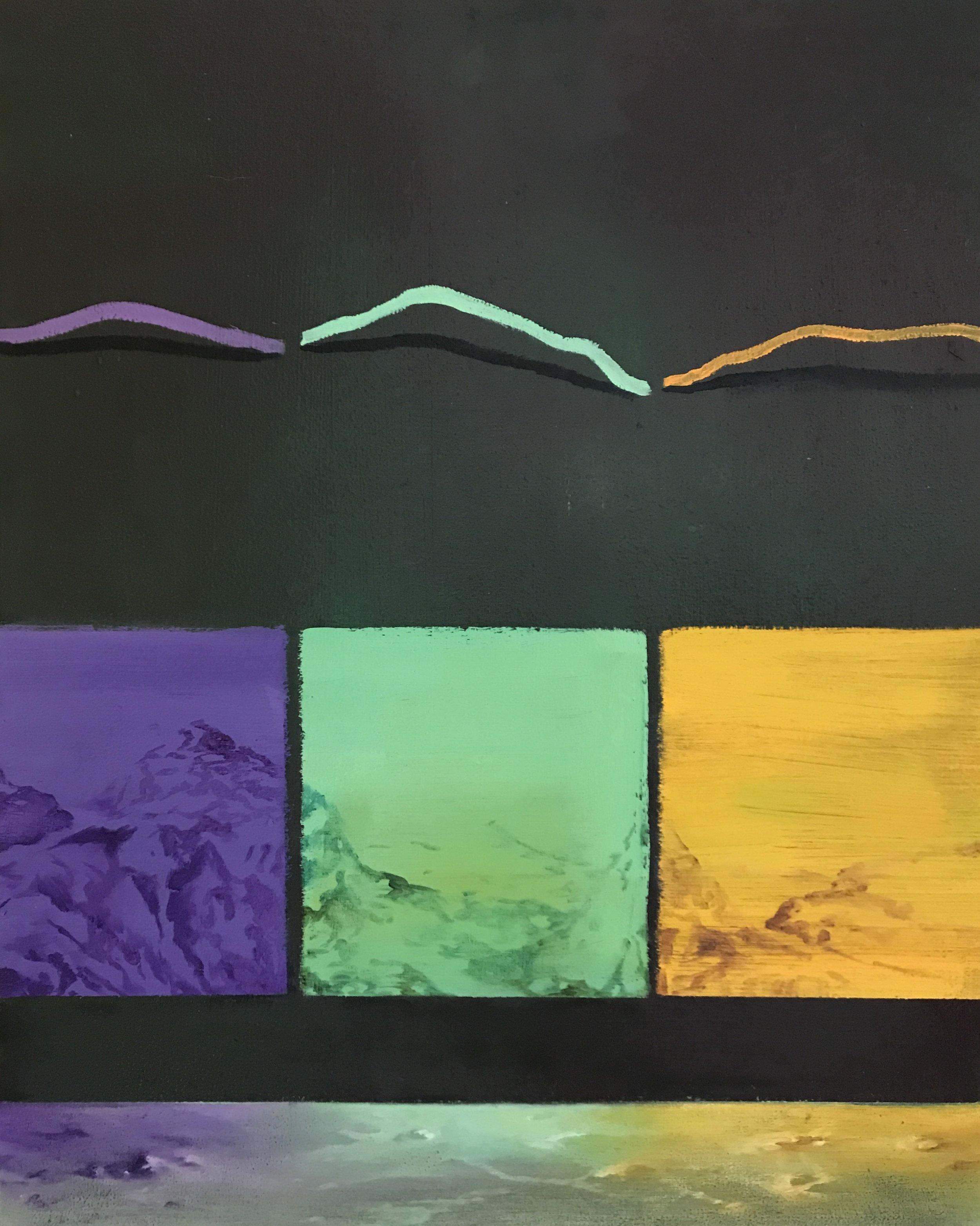 Adelheid De Witte, 'Welcome to the 4 Peaks Nightclub', 2018, oil on linen, 50 x 40cm