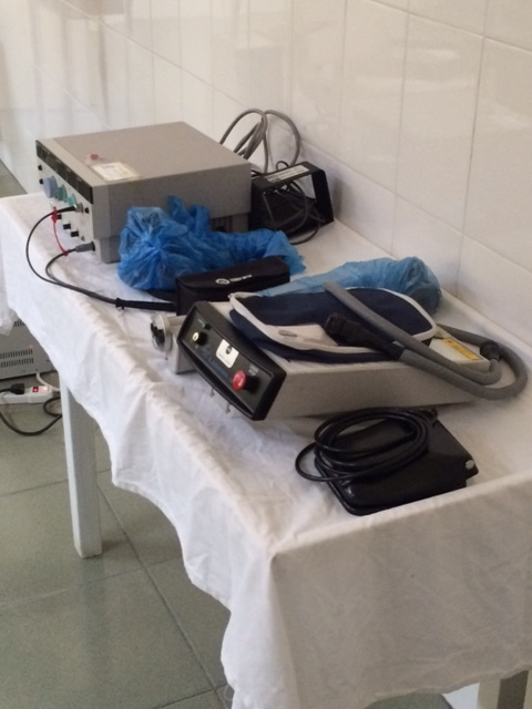 YAG and diode green lasers purchased with generous donations for St. Jude Hospital in St. Lucia.