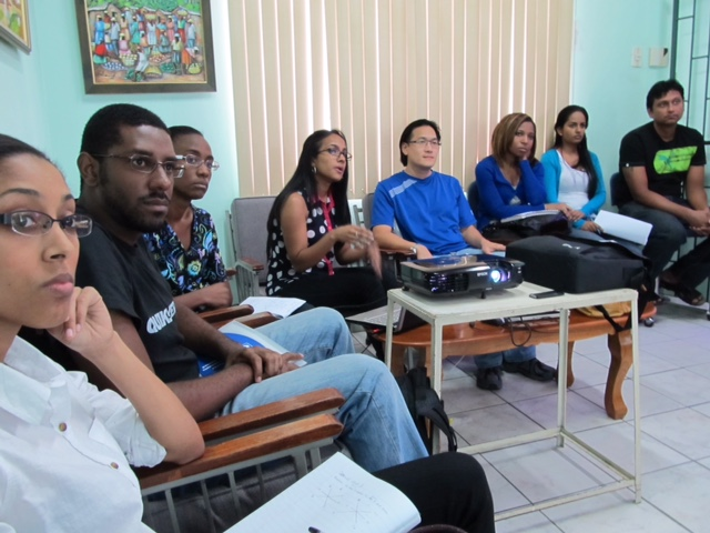 Ophthalmology residents attend a review session