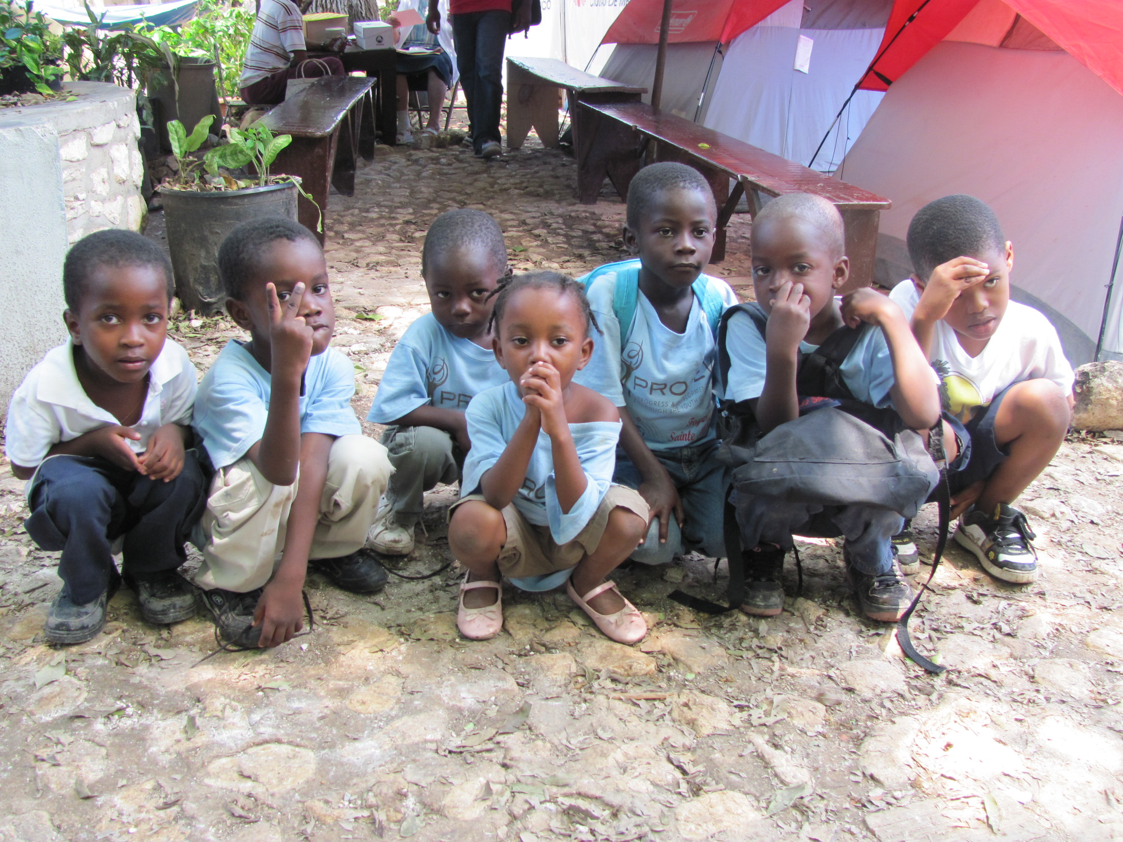 Children at our clinic in Haiti