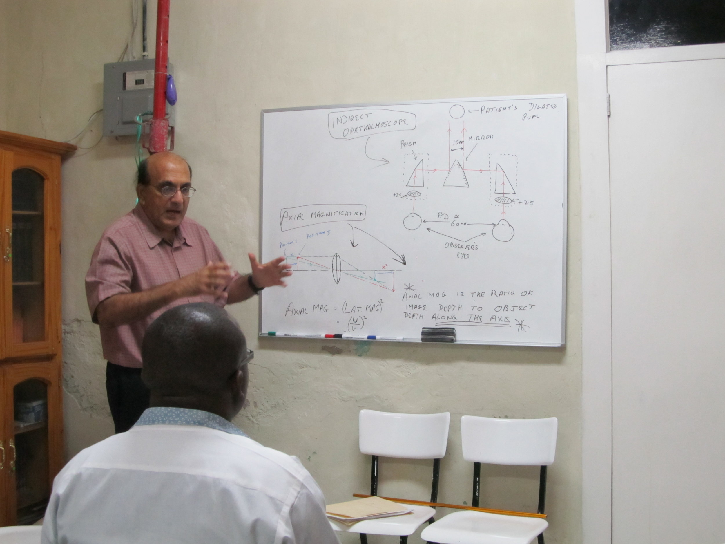 Dr. Lal teaching a course in Linear Optics