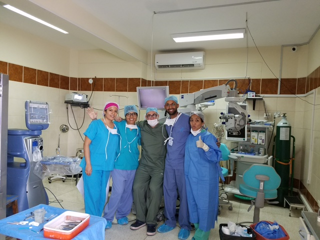 With residents in Trujillo, Peru