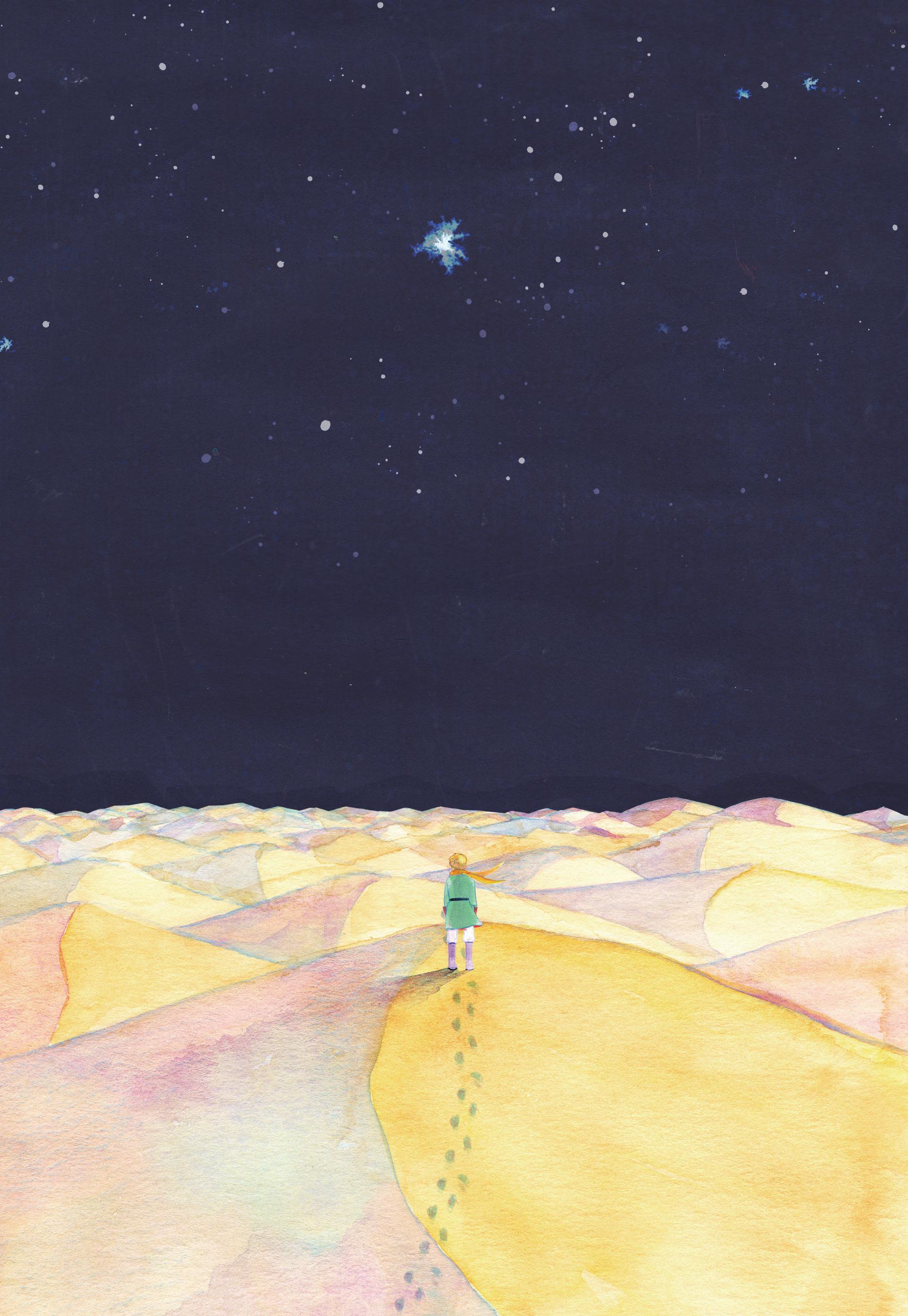 """日本ブックデザイン賞2019 装画・四六判部門ー銅の本賞  日本ブックデザイン賞2019の装画・四六判部門で銅の本賞を受賞しました。 課題図書『星の王子さま』サン=テグジュペリ   The Japan Book Design Award 2019 , bronze award  I received the bronze award at The Japan Book Design Award 2019, Thanks. """"The Little Prince."""" by Saint-Exupery"""